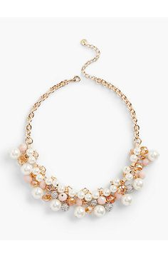 Bead-Drop Necklace - Talbots Both