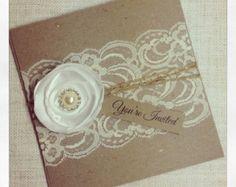 Invitación de la boda servilleta muestra de por StunningStationery