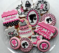 Festa aniversário Barbie - Biscoitos Confeitados