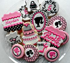 Barbie Birthday party. Cookies