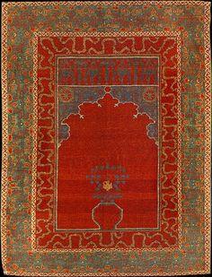 Mamluc Prayer Rug, Kairo, early 16th century, Pergamonmuseum, Museum for islamic Art, Berlin