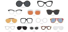 According to Pop Chart Lab's most recent graphic, The Chart of Famous Eyewear, there are at least 71 celebrities whose glasses could be considered iconic. Eye Prescription, Optical Shop, Face Shapes, Specs, Eyewear, Infographic, At Least, Chart, Glasses