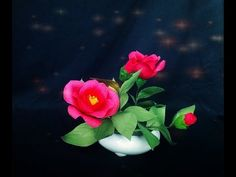 How To Make Camellia Flower From Crepe Paper - Craft Tutorial - YouTube