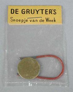 De Gruyters Snoepje van de week. De eerste , voor mij, was op de Rijksstraatweg in Haarlem. Hij was te duur.....