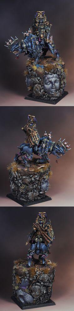 CoolMiniOrNot - Khorne Chaos Lord on Juggernaut by Bohemond Figurine Warhammer, Warhammer Figures, Warhammer Paint, Warhammer Models, Warhammer 40k Miniatures, Warhammer Fantasy, Warhammer 40000, Fantasy Battle, Medieval Fantasy