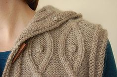 Detail Shot of Shoulder of Knitted Garment on Woman