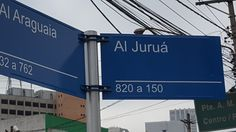Indicação de nome de rua.