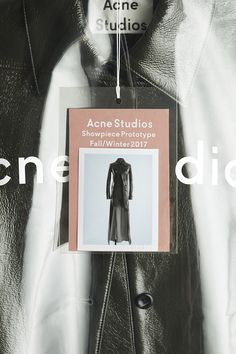 Acne Studios Unveils Its Super Limited Edition Showpiece Prototype Collection - - 100 handmade original pieces. Clothing Packaging, Fashion Packaging, Hypebeast, Logo Inspiration, Packaging Design Inspiration, Fashion Tag, Fashion Labels, London Fashion, Collateral Design