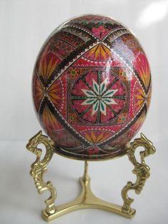 Ostrich Egg pysanka by Ukrainian Easter Eggs