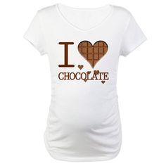 i love chocolate Maternity T-Shirt