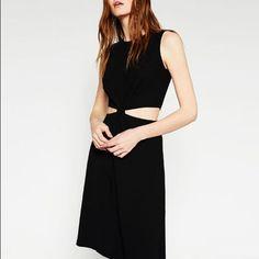 Zara Knotted Cut Out Dress - Rare