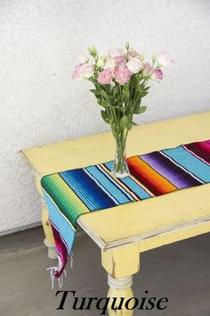 Add some authentic flair to your next fiesta with these woven serape style table runners. These runners are the perfect finishing touch for your table decor. Multiple runners can overlap for longer ba