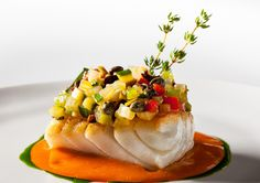 Roasted hake marinated vegetables And aromatic tomato sauce - JG Tokyo !