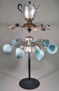"""Elegant Tea"" whirligig by Hutch Studio"
