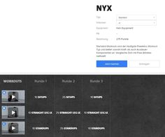 Freeletics Nyx - Workout im Überblick Freeletics Workout, Easy Workouts, Hiit, Body Weight, Nyx, Healthy Life, Athlete, Easy Fitness, Fitness Exercises