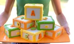 Building blocks birthday cake - but all the blocks need to be cubes