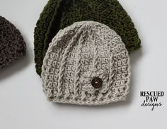 Free Crochet Pattern Swirl Hat Pattern - 3 Sizes Rescued Paw Designs