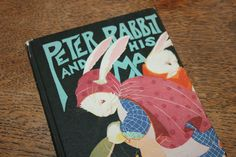 Peter Rabbit and His Ma by Louise A. Field 1917, Vintage Book, Antique Book, Children's Book, Collectible Book, Easter Book, Rabbit by CarisHome on Etsy