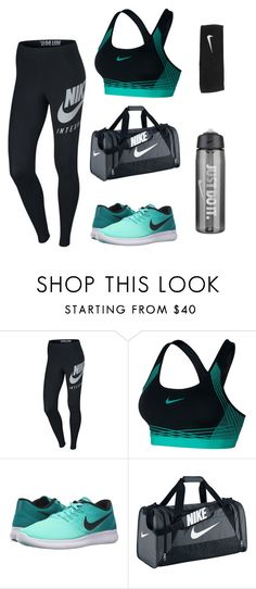 """gym/sporty"" by shopaholic02 ❤ liked on Polyvore featuring NIKE"