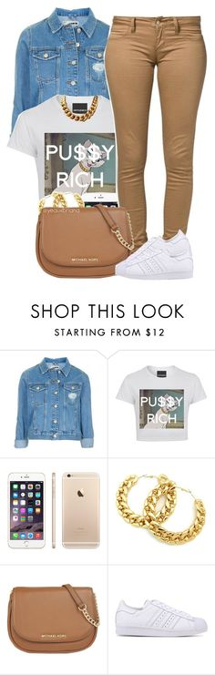 """"""""""" by yeauxbriana on Polyvore featuring Topshop, MICHAEL Michael Kors and adidas Originals"""