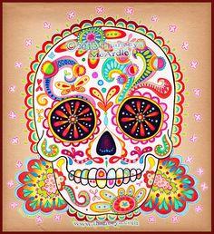 Sugar+Skull+Drawings | Sugar Skull Art by Thaneeya McArdle | Flickr - Photo Sharing!