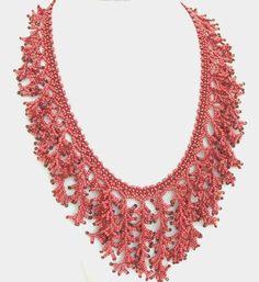 Collana di corallo rosso collana frangia frangia istruzione