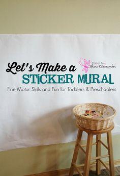 Sticker Mural Preschool Fine Motor Skills