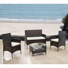 Found it at Wayfair - 4 Piece Patio Deep Seating Group with Cushions