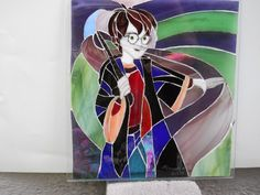 Harry Potter vitral - Custom handmade order of any Harry Potter, LOTR, Game of Thrones or Tardis character on stained glass or mosaic by FlorasHandmade on Etsy