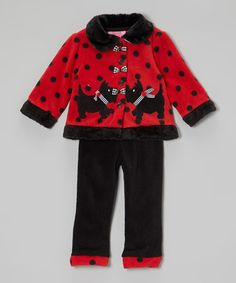 Take a look at this Red Dog Jacket & Pants - Infant by Young Hearts on #zulily today!