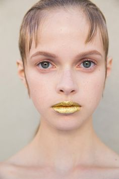 Prada SS16 Pat McGrath launching her first product, Gold 001