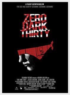 Zero Dark Thirty (2012) ~ Alternative Movie Poster by Alexander Holm #amusementphile