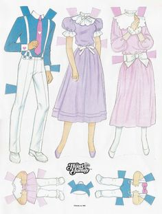 Paper Dolls~The Heart Family