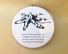 Cross Stitch Pattern PDF Lonely Mountain Misty by Quirkorium, $4.50