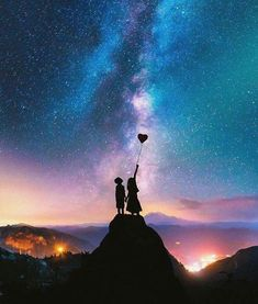 Photo Expert Creates Dreamy Fairytale Images of Animals in Unexpected Environments Couple Wallpaper, Love Wallpaper, Galaxy Wallpaper, Wallpaper Backgrounds, Wallpaper Space, Iphone Wallpaper, Love Images, Beautiful Pictures, Photo Portrait