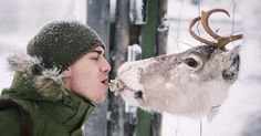 """No forest animal in Finland will ever go hungry as long as Konsta Punkka has anything to say about it. This 20-year-old Finnish photographer and, in his words, """"squirrel whisperer"""" makes simple trades with the wild animals he meets – for a little snack, they'll pose so he can take adorable photos!"""