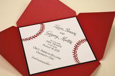 Great American Ballpark - Cincinnati Reds themed wedding invitation