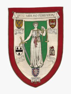 Banner of the West Midlands Federation of the National Union of Women's Suffrage Societies, 1912 by Birmingham Museum and Art Gallery, via Flickr