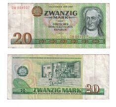 €~East Germany 20 Mark 1975