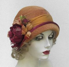 Vintage Flapper Hats for Women | Woman's Designer Cloche Hat 1920s Flapper Vintage Style by BuyGail, $ ...