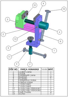 Piston Rod Drawing Sheet Solidworks In 2019 Mechanical