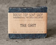 Cool, exfoliating, unscented, manly soaps, for my sensitive-skinned man.