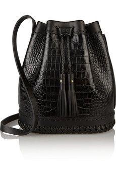 Wendy Nichol Carriage croc-effect leather bucket bag | NET-A-PORTER
