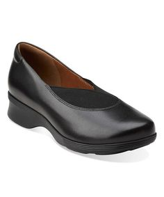 Clarks Black Aubria Fay Leather Slip-On Shoe