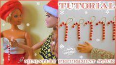 Tutorial : how to make miniature Christmas peppermint sticks for dolls