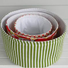 DIY Round Fabric Baskets ~ Passion for Organization « Sew,Mama,Sew! Blog