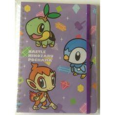 Pokemon Center 2013 Pokemon Petit Campaign Turtwig Chimchar Piplup Spiral Notebook