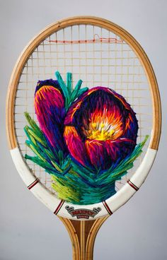 Stitched Images: Embroidered Fiber Art by Danielle Clough Yarn Bombing, Embroidery Art, Cross Stitch Embroidery, Modern Embroidery, Art Du Fil, Textiles Techniques, Graffiti, Art Object, String Art