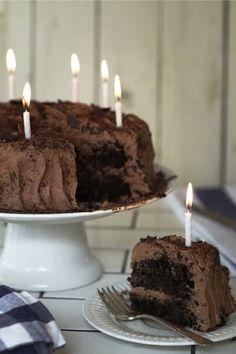 classic chocolate cake Steht gerade zum abkühlen und zur Weiterverarbeitung ;-) für Tim's Geburtstag. Mir ist übrigens schon vom Teig naschen schlecht und ich hab nur wenig gekostet.....