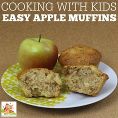 Cooking with kids, easy apple muffins